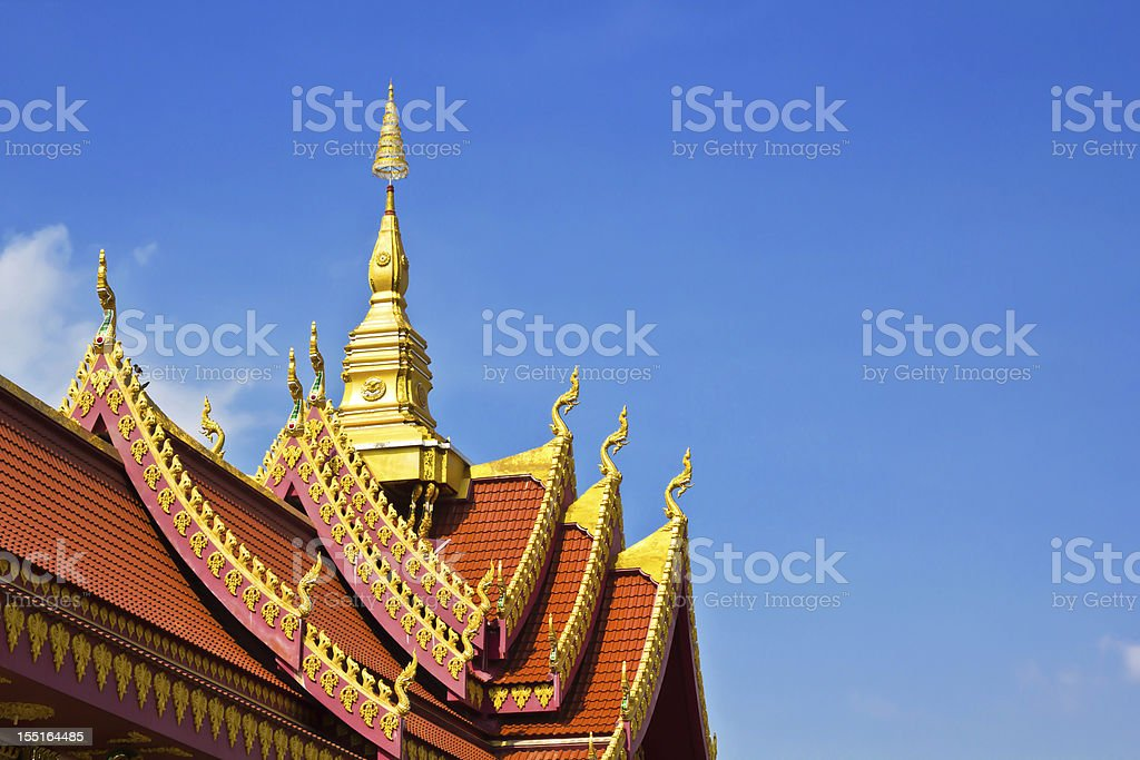 thai art roof of temple royalty-free stock photo