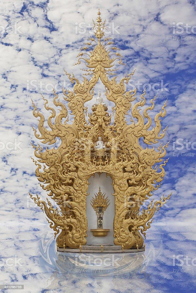 thai art style.Wat Rong Khun,Chiang Rai,Thailand. stock photo