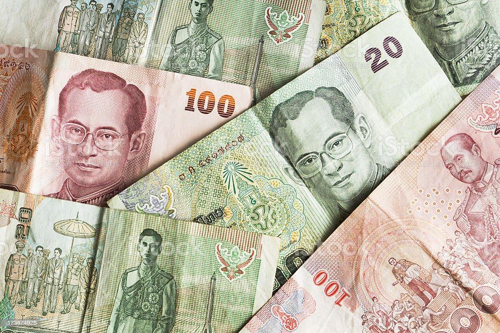 Thai Baht Background royalty-free stock photo