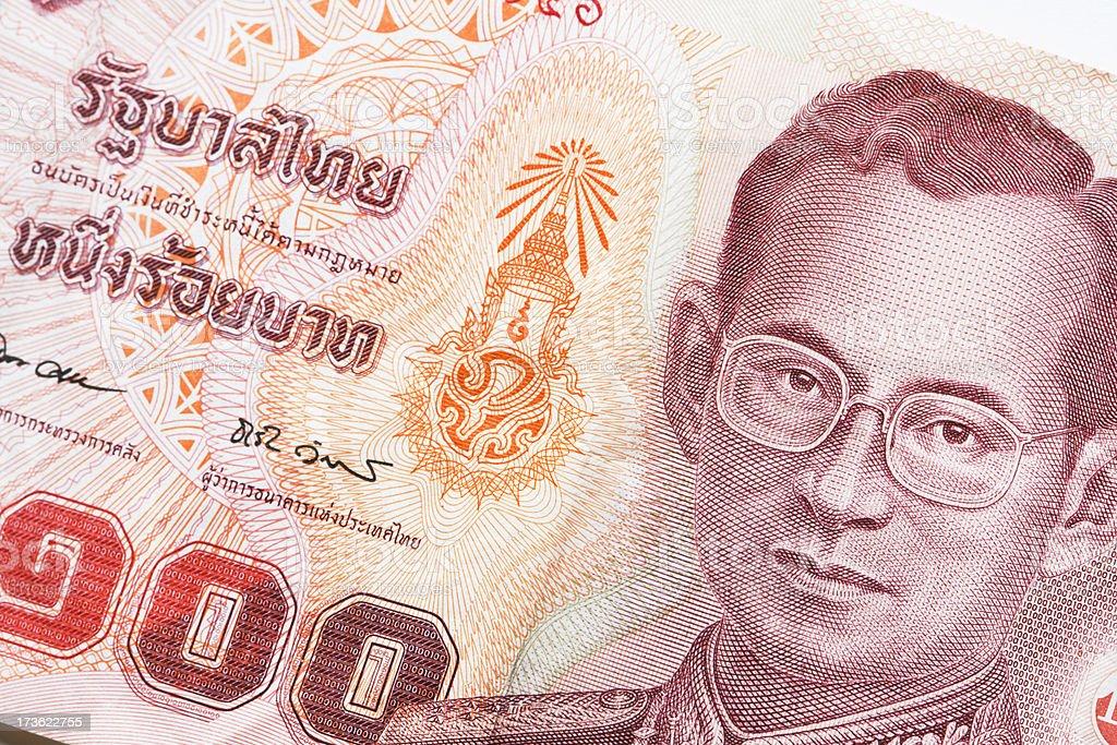 Thai Baht Close-up royalty-free stock photo