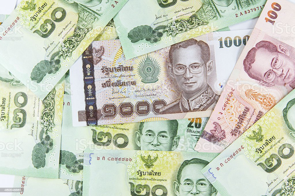 Thai Baht Note royalty-free stock photo