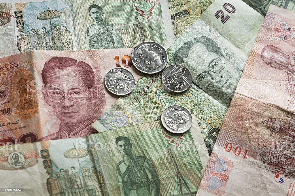 Thai Baht stock photo