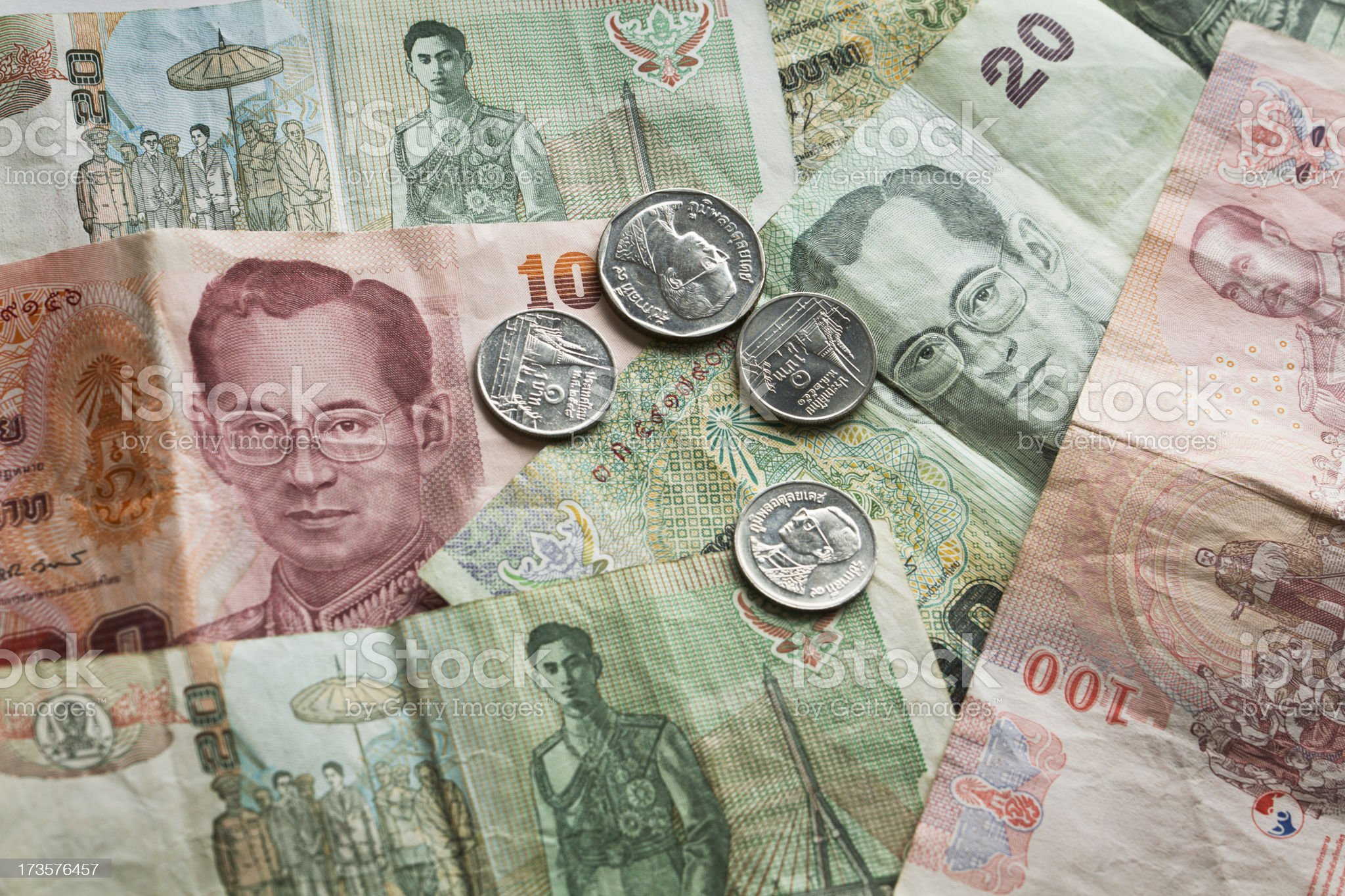 Thai Baht royalty-free stock photo
