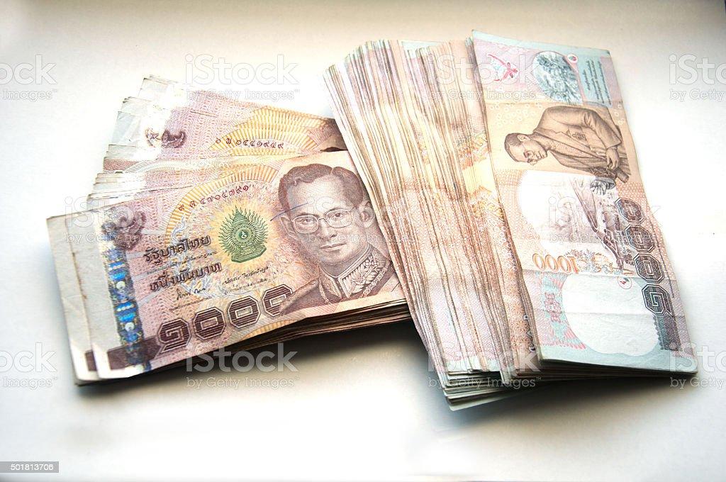 Thai Banknote of 1000 Baht stock photo