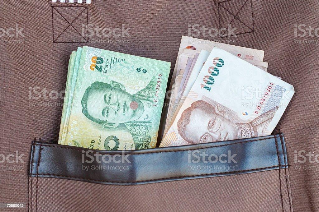 thai banknotes stock photo