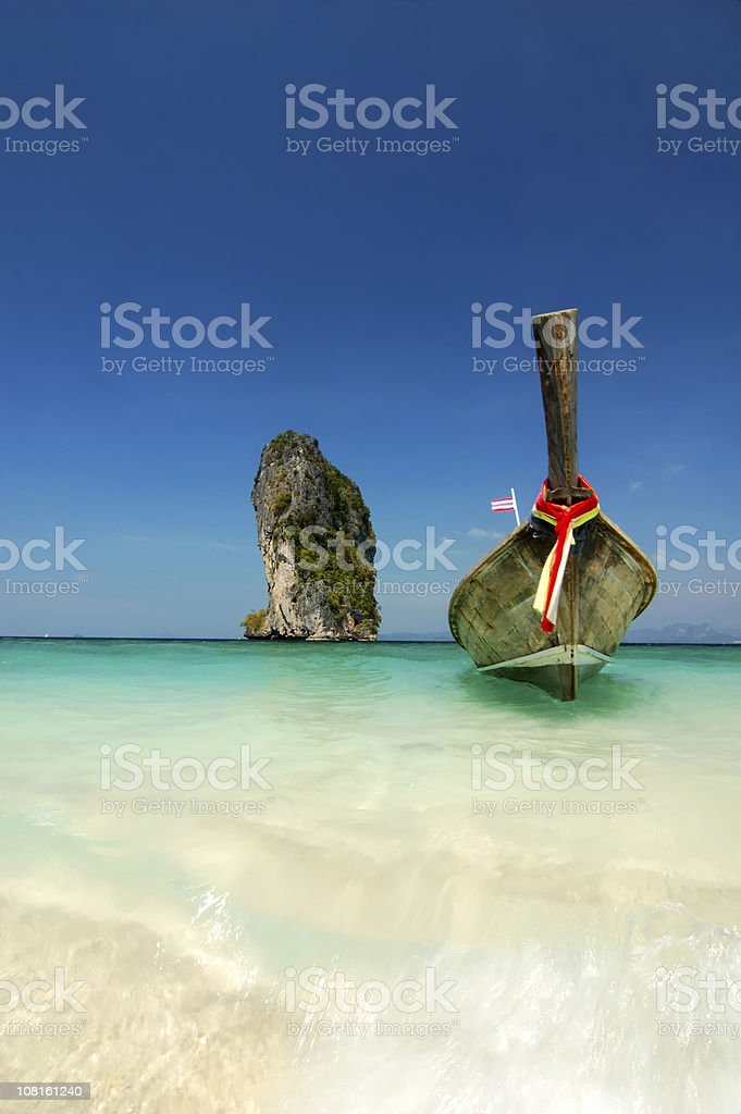 Thai Beach Scene royalty-free stock photo