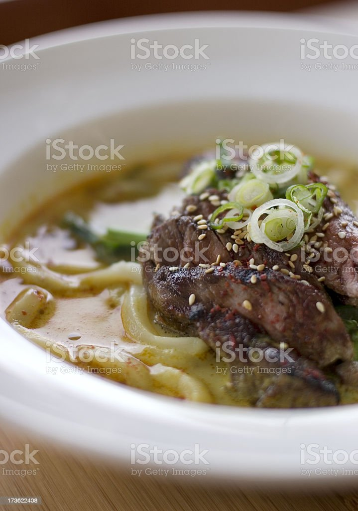 Thai Beef Noodle Soup royalty-free stock photo