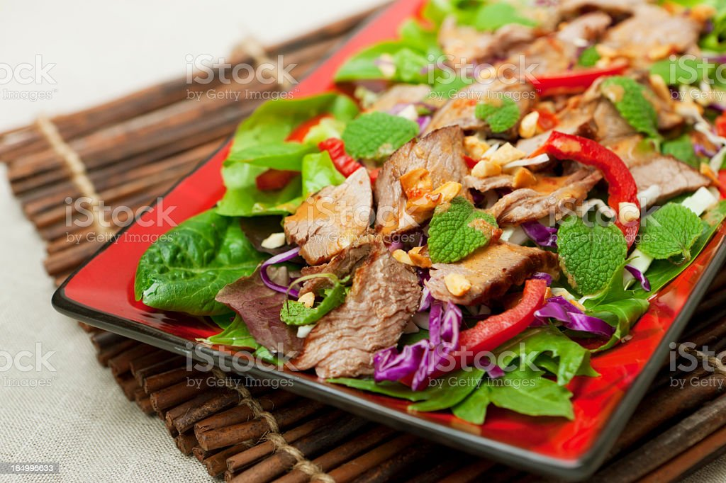 Thai beef salad stock photo