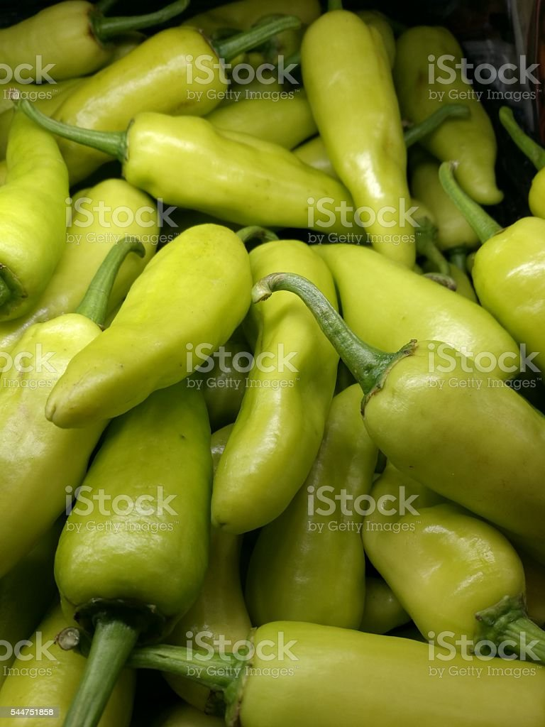 Thai bell peppers on fluorescence light royalty-free stock photo