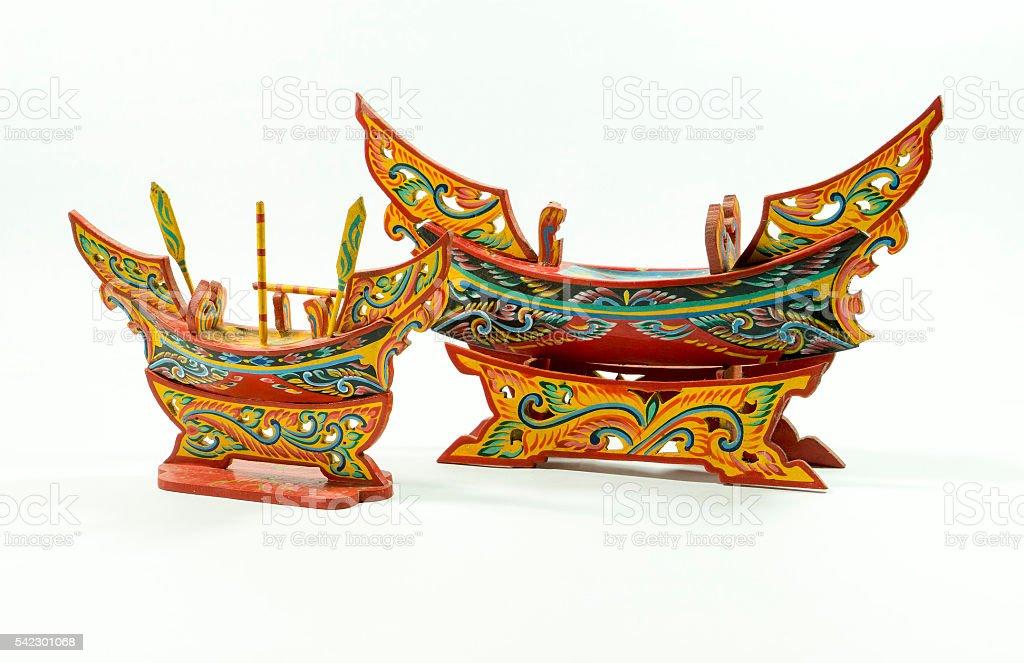 Thai boat models stock photo