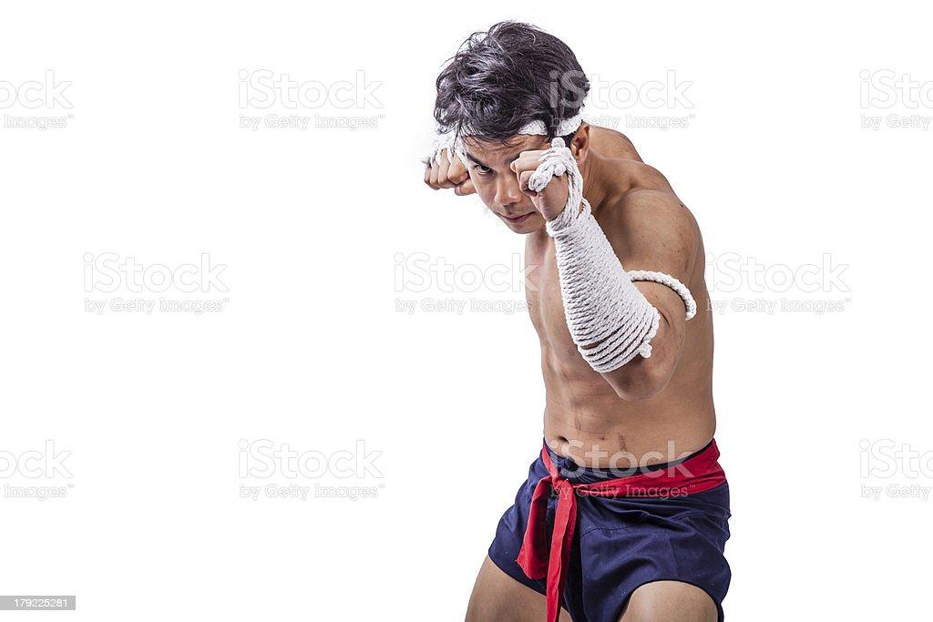 thai boxer royalty-free stock photo