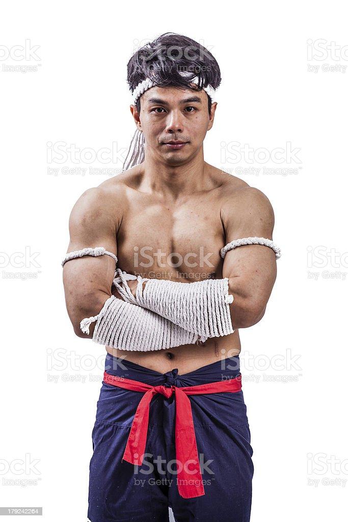 thai boxer stock photo