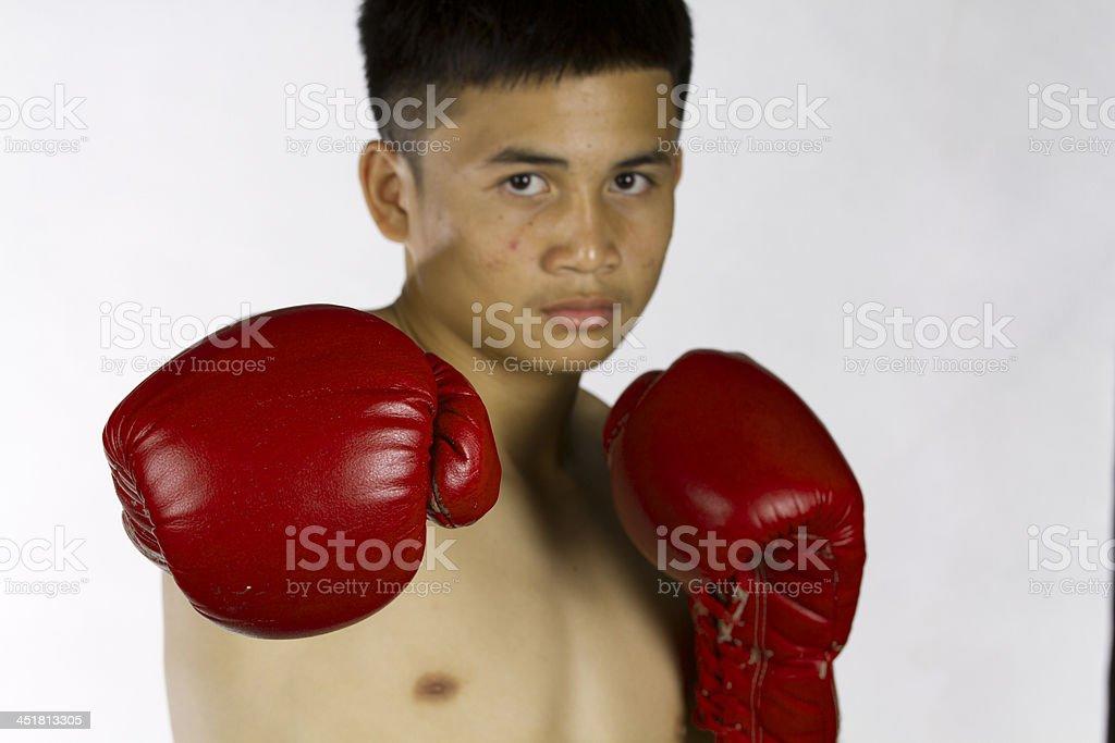 Thai boxing royalty-free stock photo