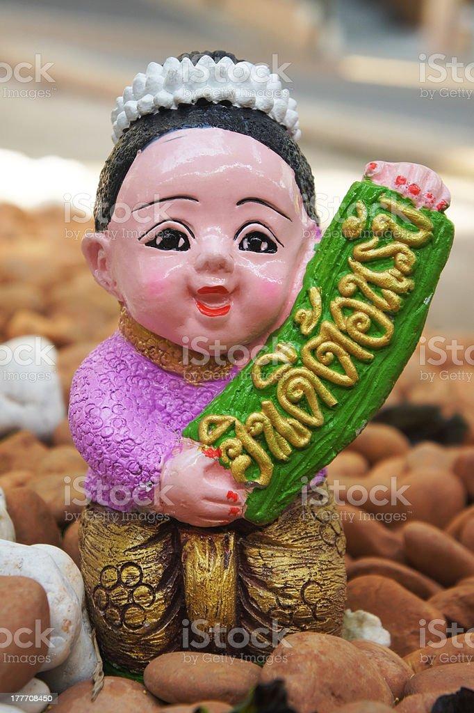 Thai boy clay doll royalty-free stock photo