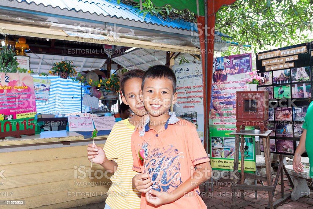 Thai boys stock photo