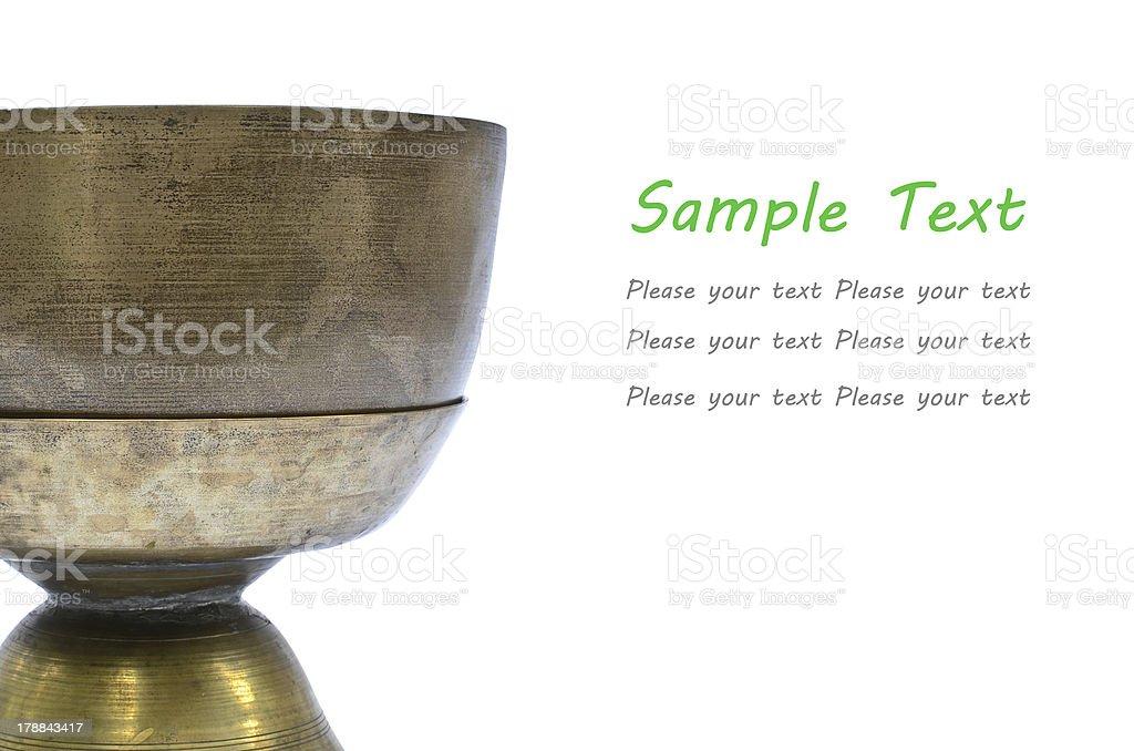 Thai Brass tray with pedestal royalty-free stock photo
