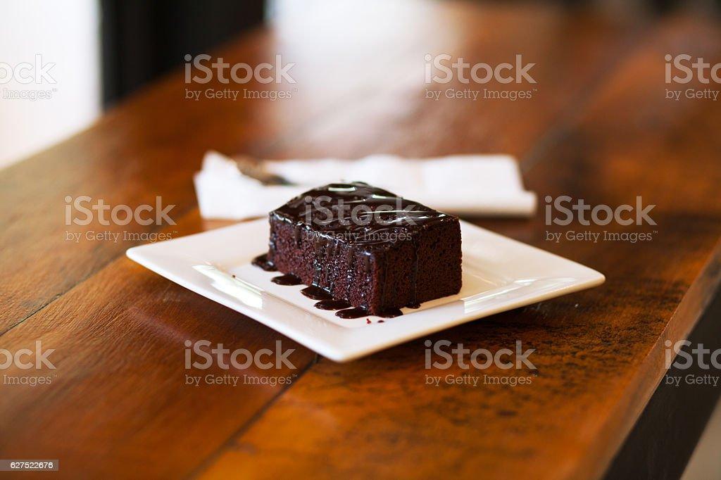 Thai brownie cake stock photo