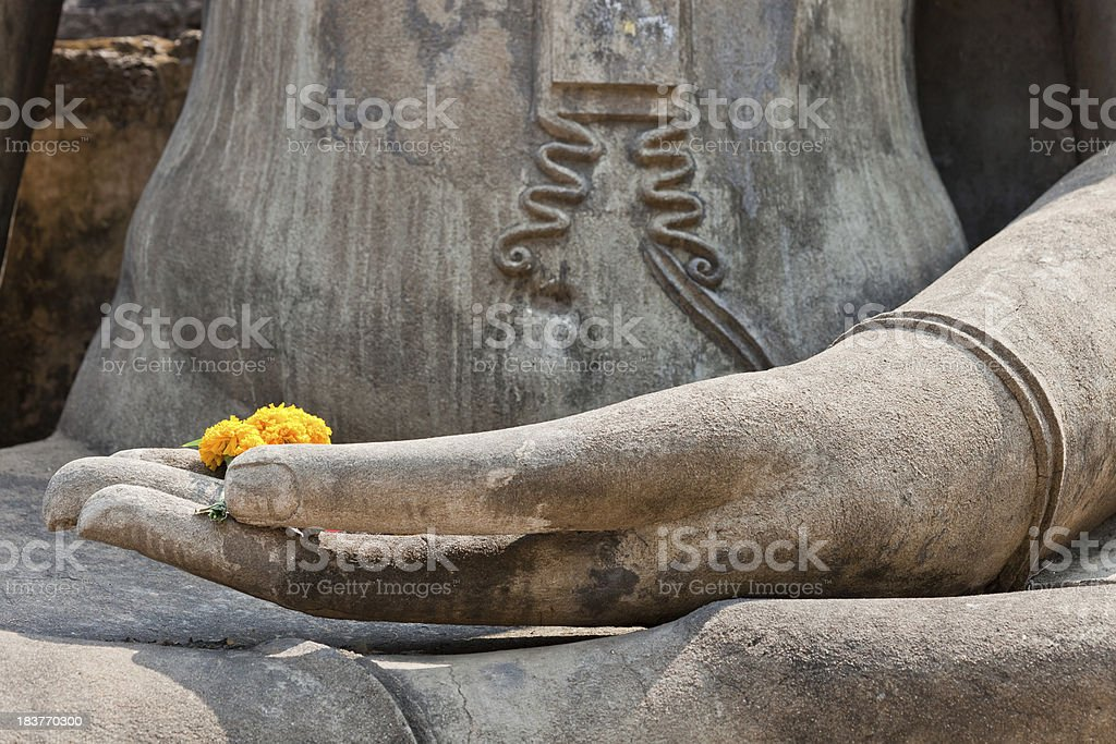 Thai Buddha From Sukhothai, Thailand royalty-free stock photo