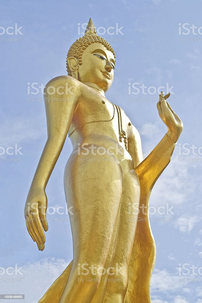 Thai Buddha Golden Statue in Thailand. royalty-free stock photo