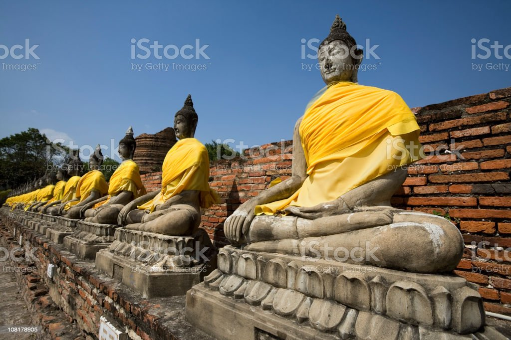 Thai Buddha Statues stock photo
