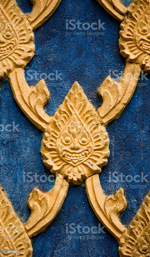 Thai Buddhist temple motif background. stock photo