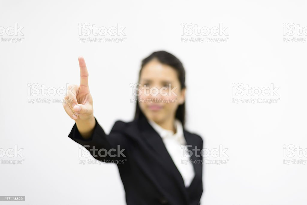 Thai business woman pointing royalty-free stock photo