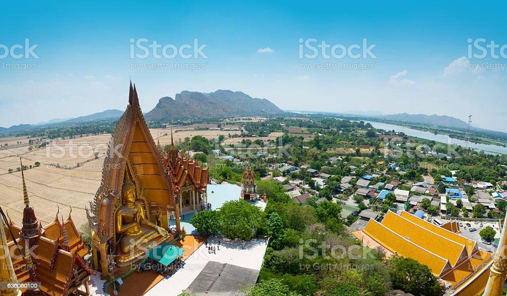 Thai Cave Temple  in Kanjanaburi, Thailand. stock photo