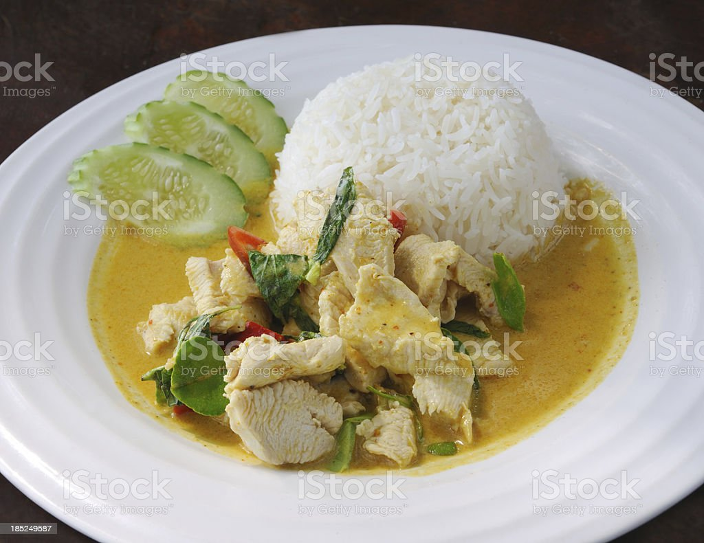 Thai Chicken Curry with Vegetables in Coconut Milk (XXXL) stock photo