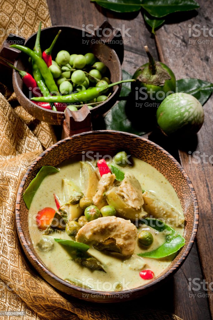 Thai Chicken Green Curry stock photo