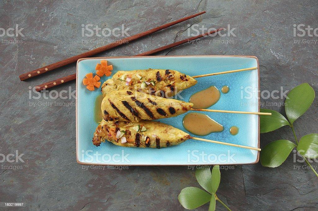 Thai Chicken Satay stock photo
