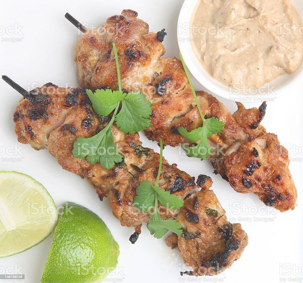 Thai Chicken Satays stock photo