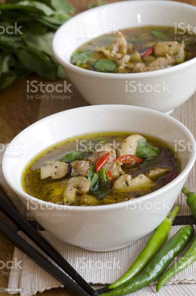 Thai chicken soup royalty-free stock photo