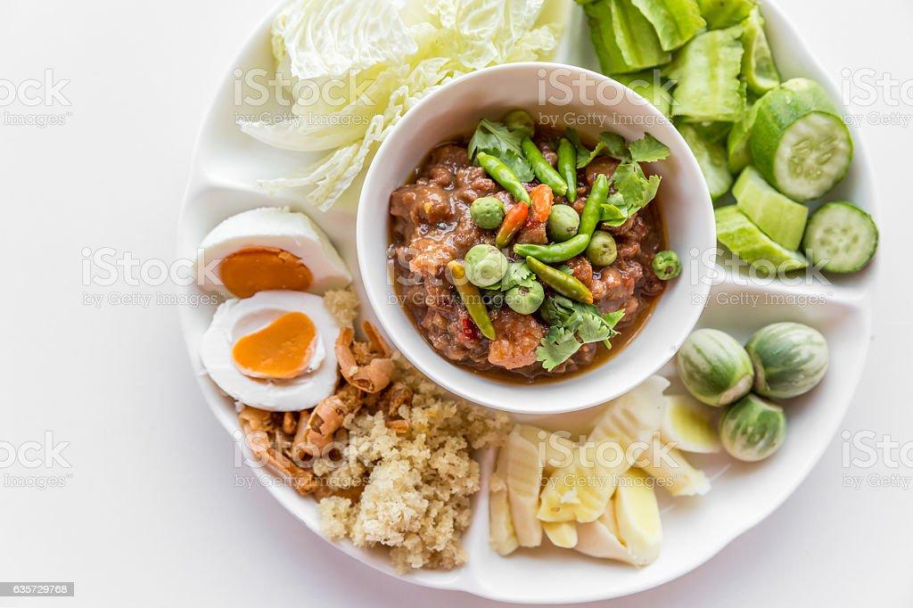 Thai chili paste stock photo
