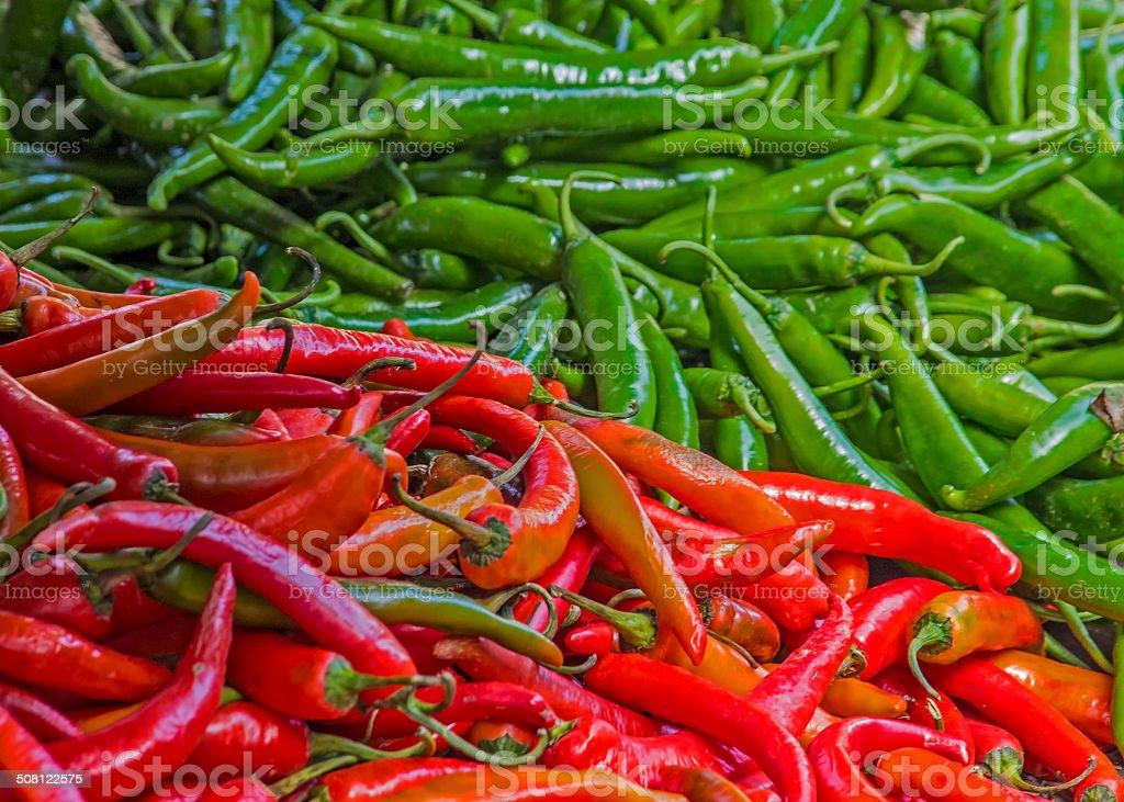Thai Chillies stock photo