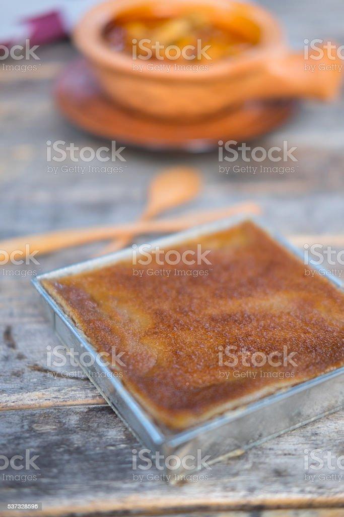 Thai coconut custard squares stock photo