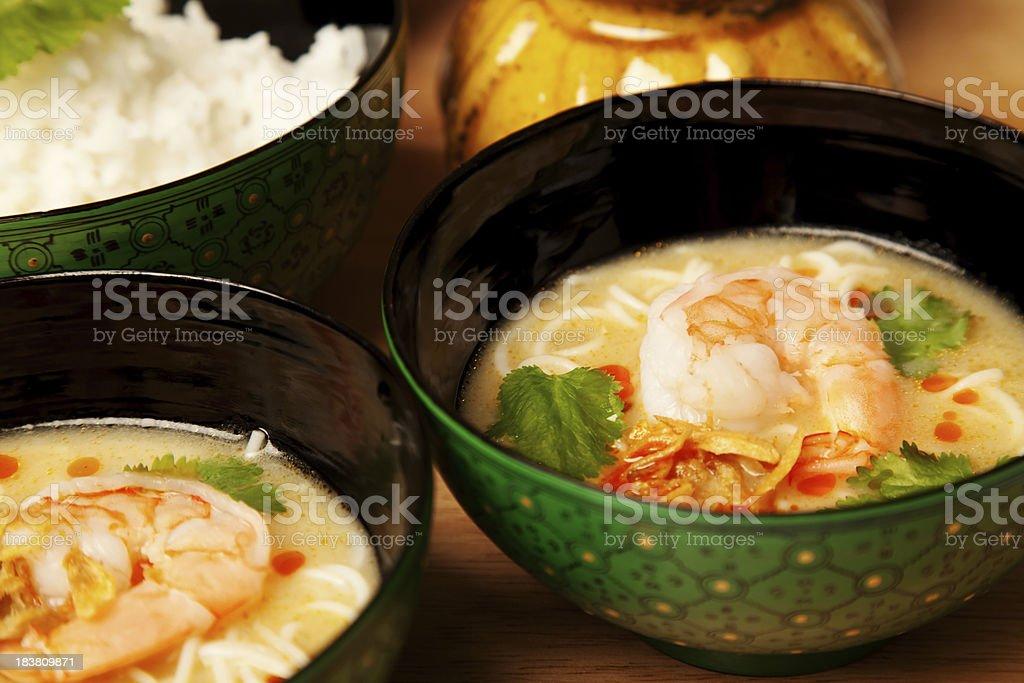 Thai Coconut Noddle Soup stock photo