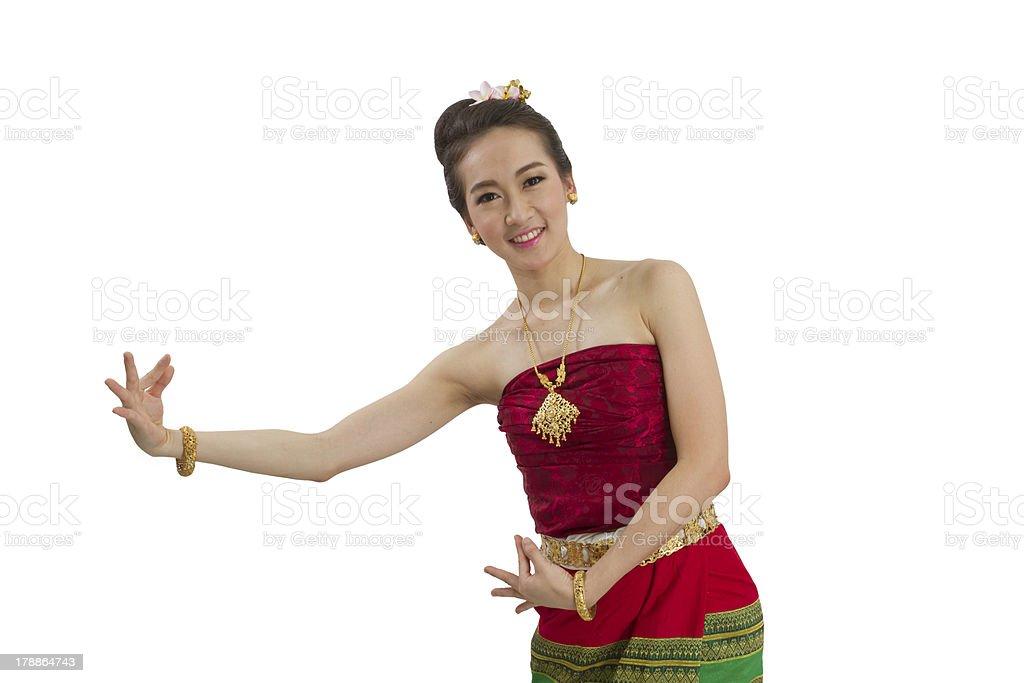 thai costume royalty-free stock photo