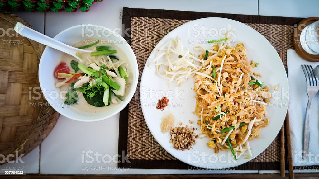 Thai Cultural Cuisine in Cooking Class stock photo