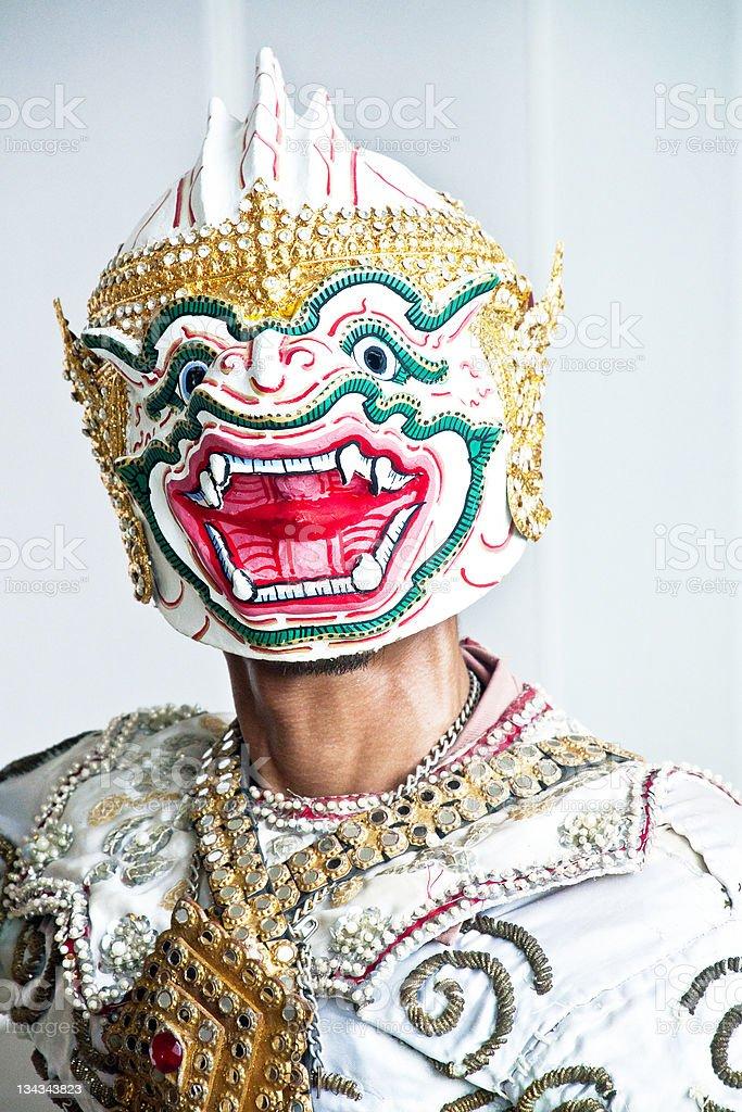 Thai kulturalne Pokaż Hanuman zbiór zdjęć royalty-free