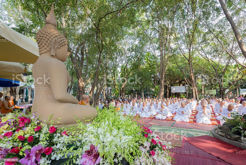 Thai culture ordination ceremony. stock photo