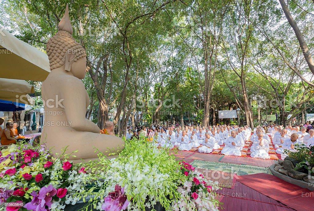 Thai culture ordination ceremony. stock photo