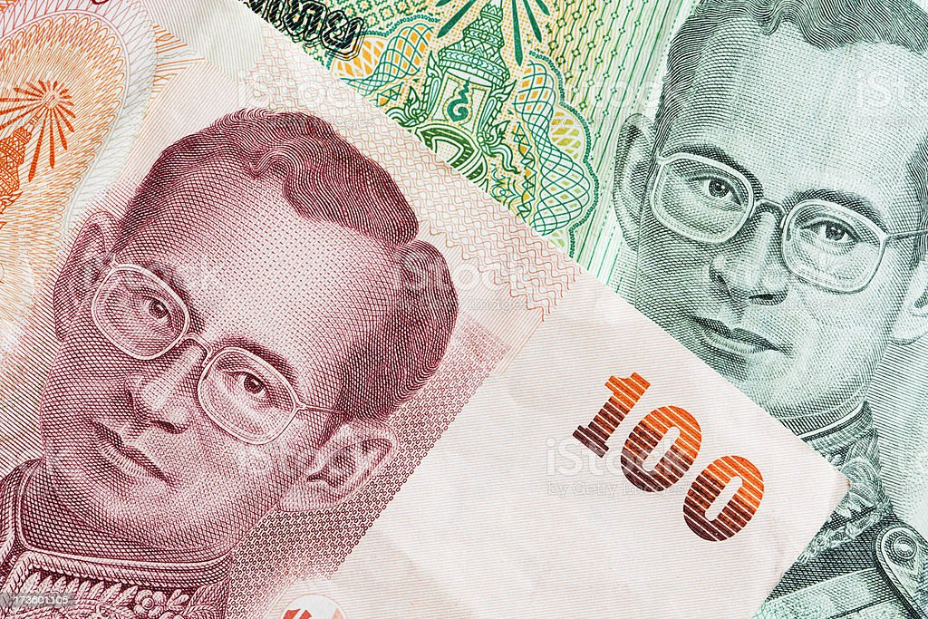 Thai Currency Close-up royalty-free stock photo