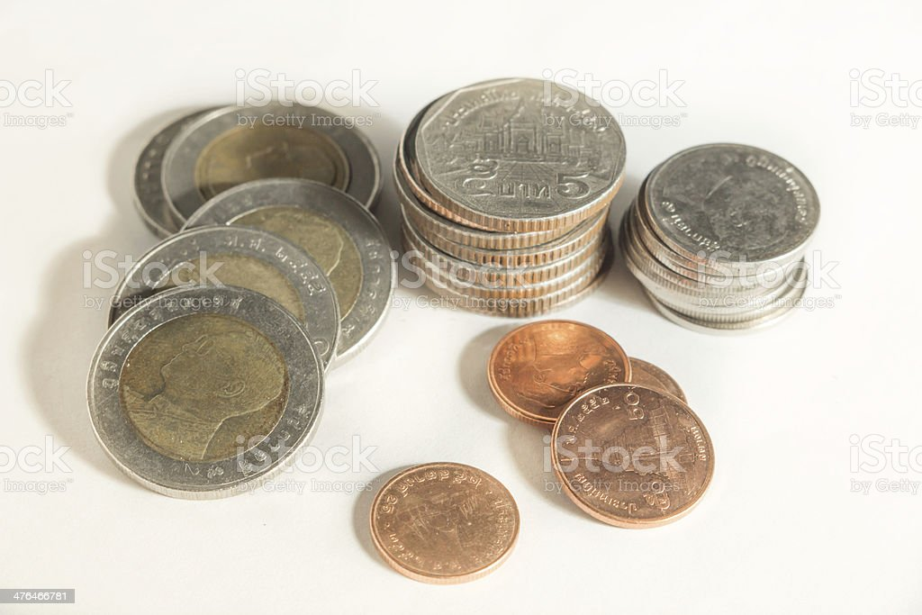 Thai currency coins royalty-free stock photo