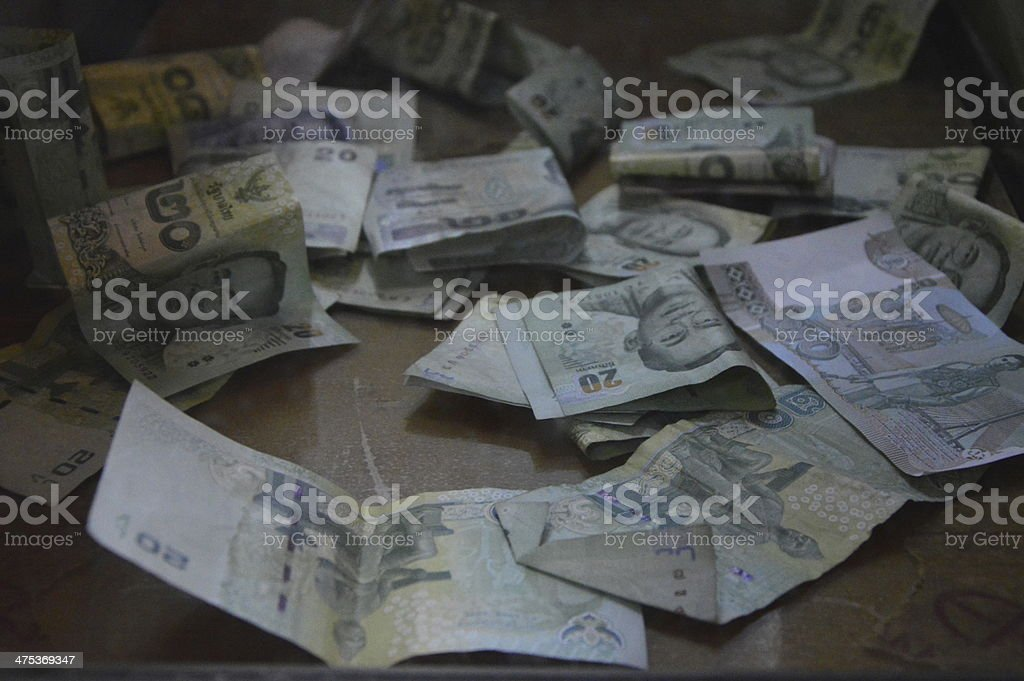 Thai currency. royalty-free stock photo