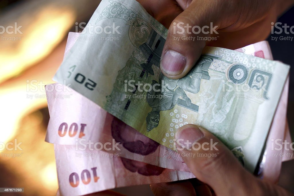 Thai Currency stock photo