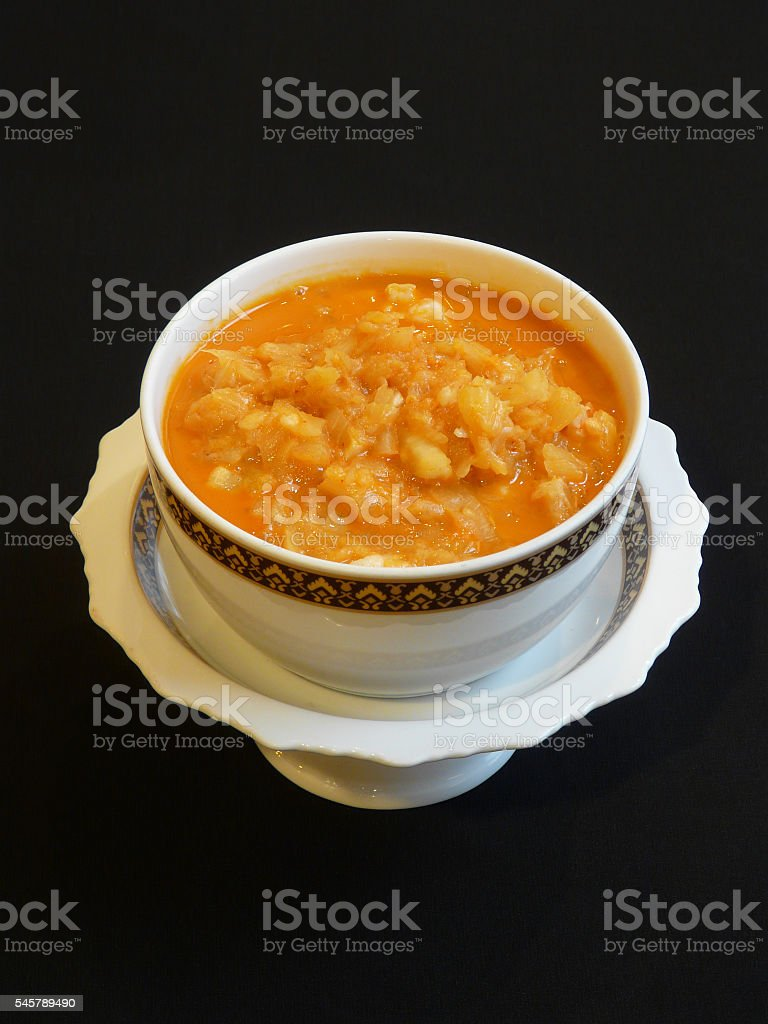 thai curry red curry with pineapple thai cuisine 1 stock photo