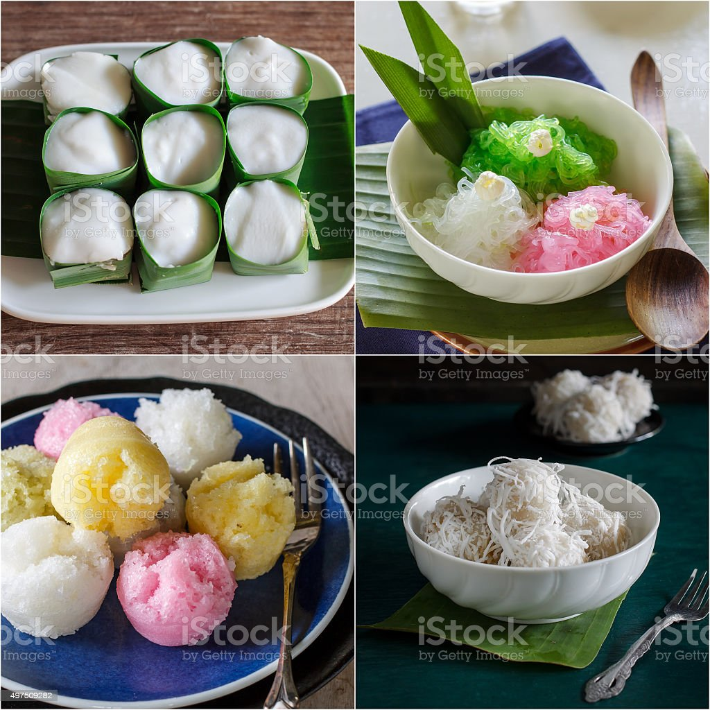 Thai dessert. stock photo