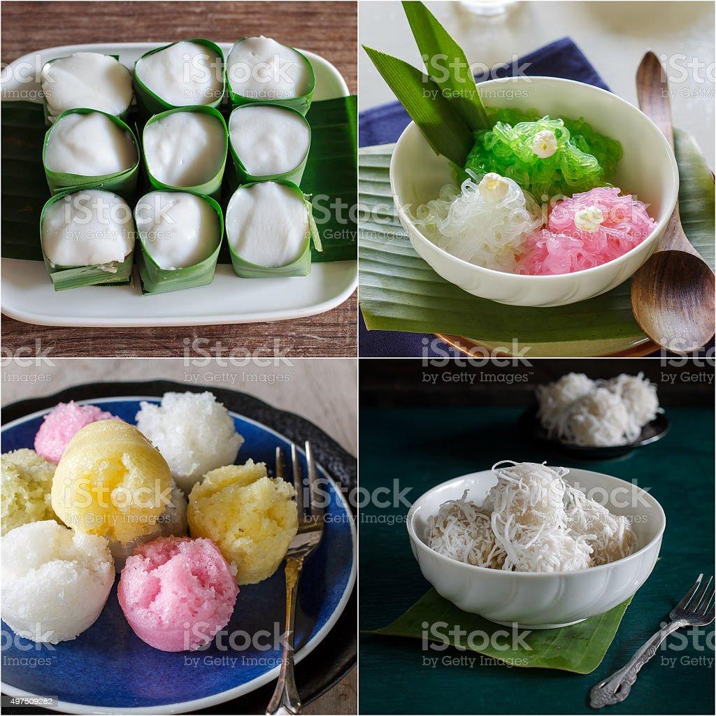 Thai dessert. stock photo