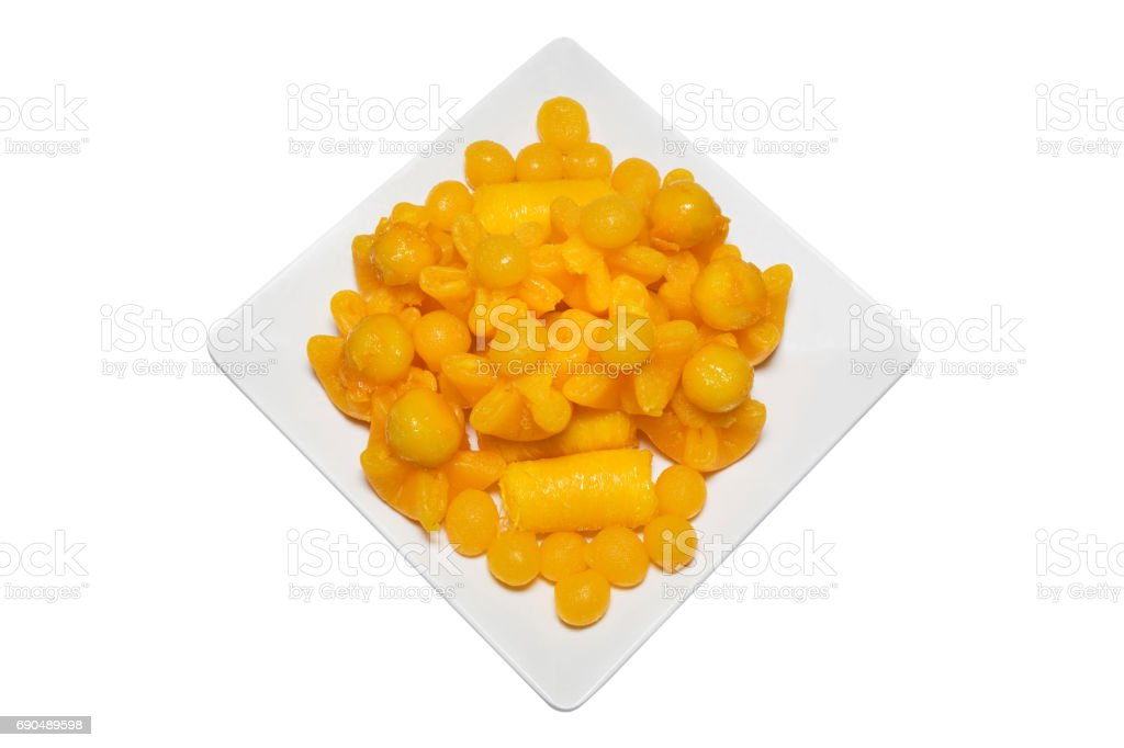 Thai Dessert Sweet Gold Isolate stock photo