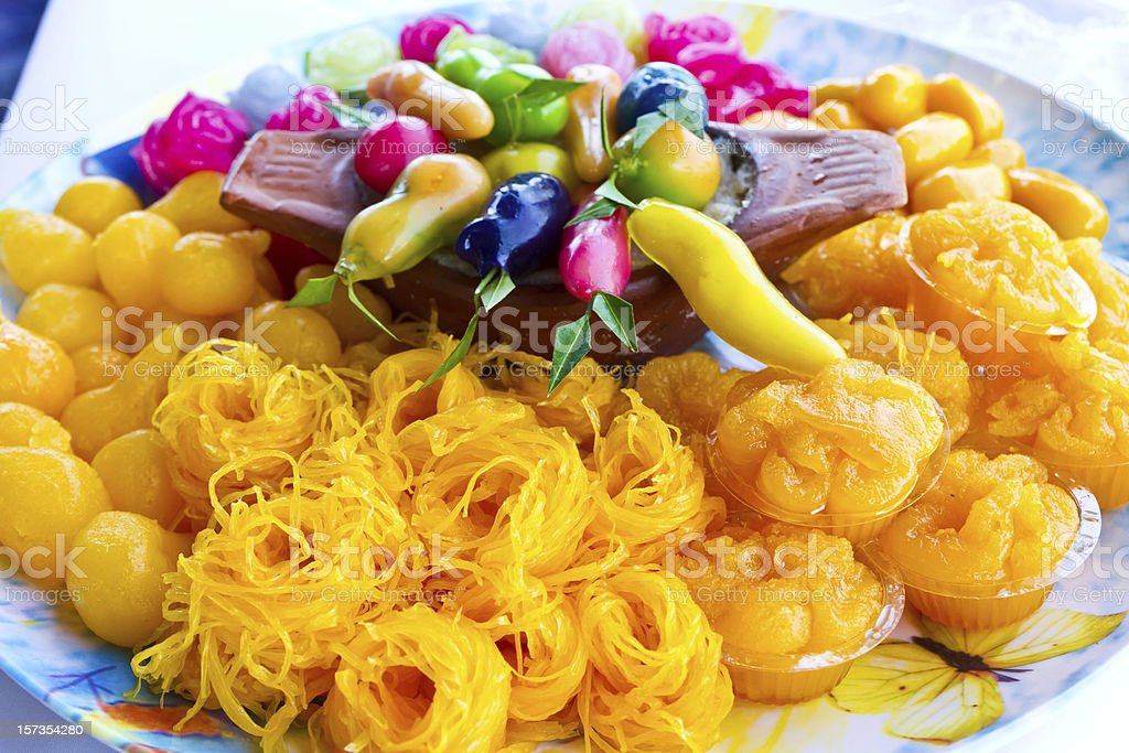 Thai Desserts royalty-free stock photo